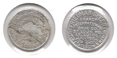 Weatherbird & Friedman Shelby Shoe 1/2 Cent Thrift Savings Token St. Louis, MO