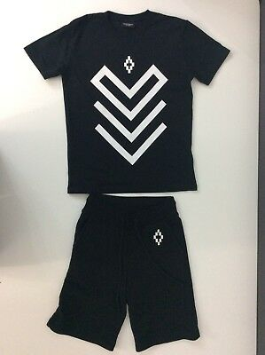 Marcelo Boys Outfit, Set, Shorts & T Shirt, Size Age 8 Years, Black & White