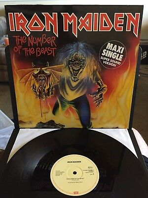 IRON MAIDEN The Number Of The Beast IMPORTMAXI SINGLE PICTURE SLEEVE EX VINYL