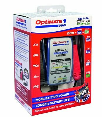 Optimate 1 Duo Motorcycle Battery Charger Optimiser Latest Version Lithium Gel