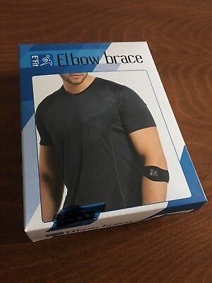 1 (one strap) Unisex Elbow Brace With Compression Pad Tennis Golfers Support
