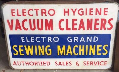Vintage advertising Sign  Metal Sewing Machine Two Sided 6' X 4'!!! Automotive