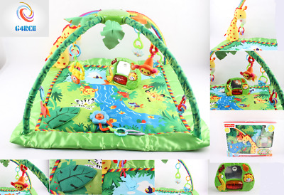 Happy Baby Jungle Animals Gym Play Mat Lights Music Birthday XMAS Gift UK Seller