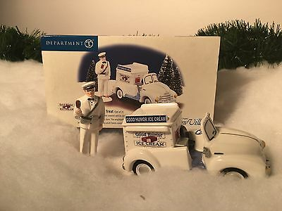 New Rare Department 56 Its Time For An Icy Treat (Set Of 2) #55013 Village Piece