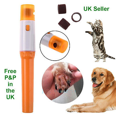 Pet Claw Grinder Trims Dog/Cat Nails Grooming Gentle Painless Batteries Included