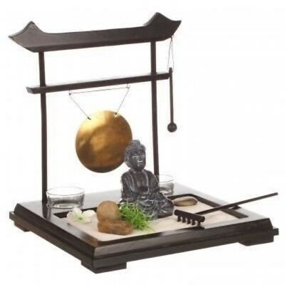 deko set zen garten in schale mit baum buddha glas teelichthalter geschenkidee eur 14 90. Black Bedroom Furniture Sets. Home Design Ideas