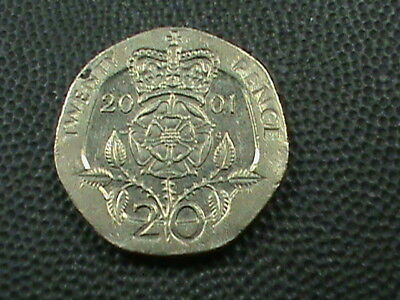 GREAT  BRITAIN    20  Pence   2001