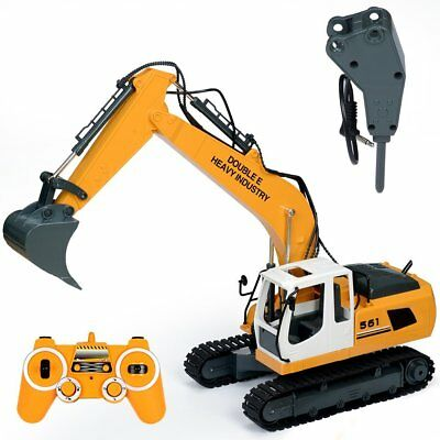 DoubleE RC Excavator Remote Control Tractor Toy Construction Vehicles 17 Channel