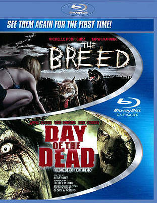 THE BREED/DAY OF THE DEAD (Blu-ray Disc 2011) 2BD Set 2 Movies [See Description]