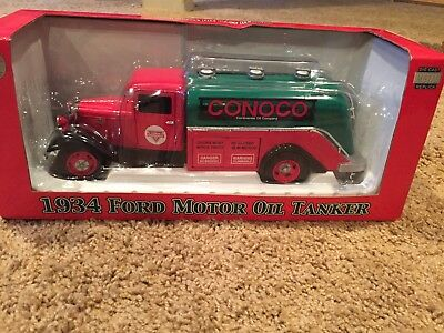 Conoco Continental Oil Company 1934 Ford Tanker Truck Crown Premium Model