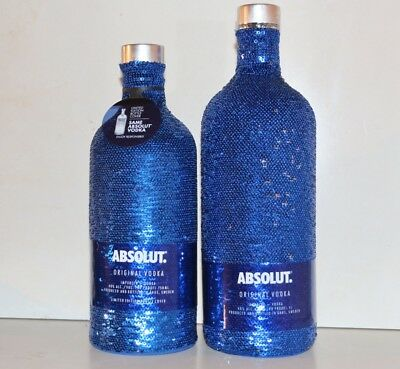★ Absolut Vodka 2x UNCOVER SEQUIN 2nd Skins Paillettenhüllen Limited 2017 ★