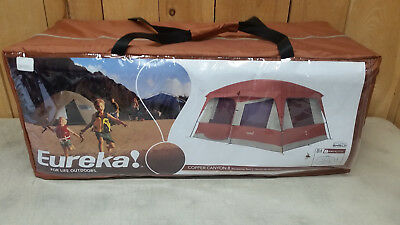 Eureka Copper Canyon 8 - 8 Person Family Car C&ing Tent - New - Free Shipping & EUREKA COPPER Canyon 4 Person Durable Frame 6-Pole Cabin-Style ...