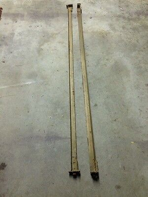 T Slot Pin Cast Iron Bed  Rails, Vintage Old Antique
