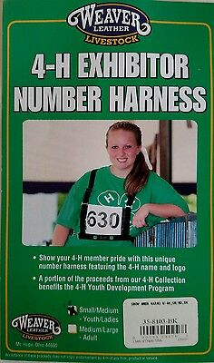 Weaver Leather Livestock 4-H Exhibitor Number Harness S/M Youth/Ladies NIP
