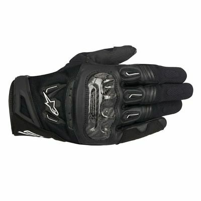 Alpinestars SMX-2 Air Carbon V2 Leather Motorcycle Gloves Short Cuff Summer