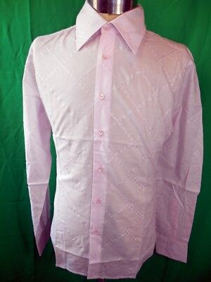 Vintage Pink Cotton Phillips Melbourne Dress Shirt New/Old Stock Never Worn M