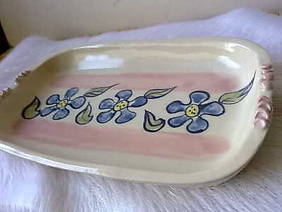 Retro Hand-painted Australian Pottery Serving Dish Stamped