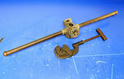 Vintage Heavy Duty Pipe Cutter & Threader Used, Rigid, American Pipe Tool