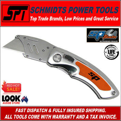Sp Tools Sp30854 Folding Utility Knife Quick Blade Change Lockback Stanley Knife