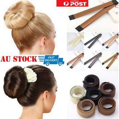 Women Magic Hair Bun Snap Styling Donut Former French Twist Band DIY Maker Tool