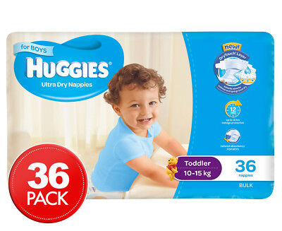 Huggies Ultra Dry Toddler Nappies Boys 10-15kg 36pk