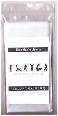 Resealable Soft Card Sleeves Regular 5 Packs (500ct) Only Use for 35PT