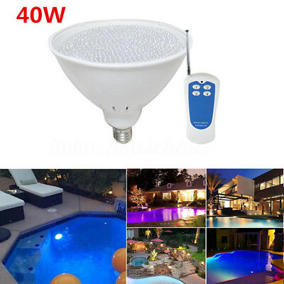 New 40W AC12V Par56 E27 DIP RGB LED Swimming Pool Light Fountain Bulb Lamp