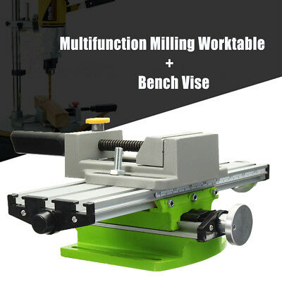 Precision Multifunction Milling Machine Adjustable Worktable + Bench Drill Vise