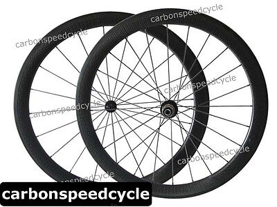 Full Carbon Fiber Biycle Dimple Finish Wheelset 25mm Width 50mm Clincher Wheels
