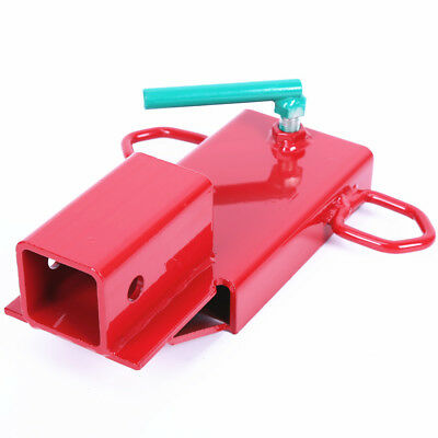 Clamp On Forklift Hitch Receiver Pallet Fork Trailer Towing Adapter 2'' Red
