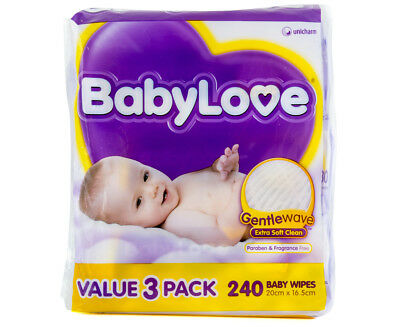 BabyLove Gentle Wave Wipes 240-Pack