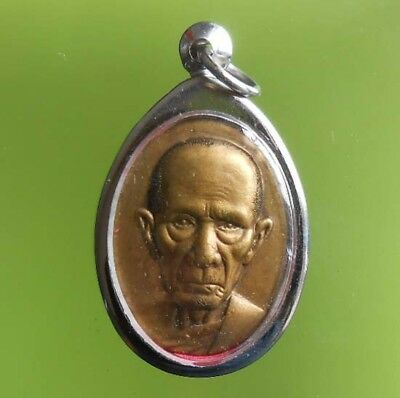 Top! Real Lp Ruey Old Thai Buddha Amulet Wealth And Rich !!!