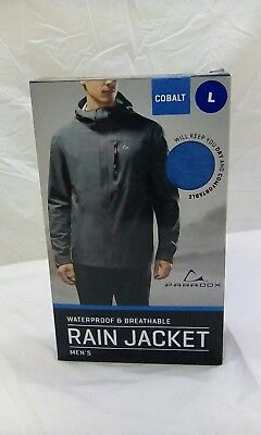 Paradox Waterproof and Breathable Men's Rain jacket - cobalt size large - MT.G1