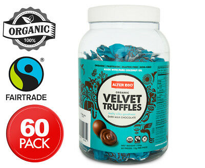 Alter Eco Organic Dark Chocolate Velvet Truffles Tub 60pk