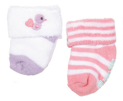 Playette Baby Size 3-6 Months Bootie Sock 2-Pack - Pink