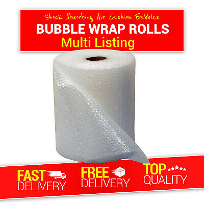 Quality Bubble Wrap Small & Large 1000mm 750mm 500mm 300mm x 50M 100M Meter Roll