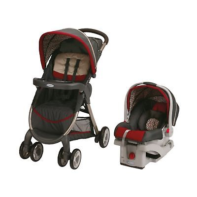 Graco Fastaction Fold Click Connect Travel System Stroller Finley Finley 2015