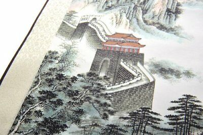 Abacus Chinese Silk Scroll / Picture Scroll / Wall Scroll - The Great Wall S059