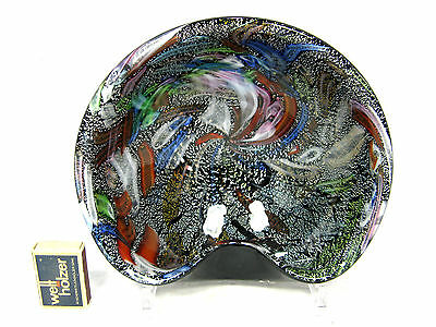 "Beautiful  ""Tutti Frutti"" Murano  ""rest of the day"" glass bowl Schale + label"