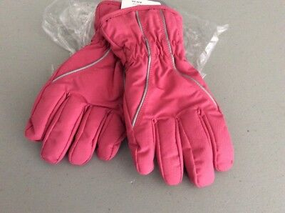 NWT Hanna Andersson GIRLS PINK GLOVES Insulated Size L