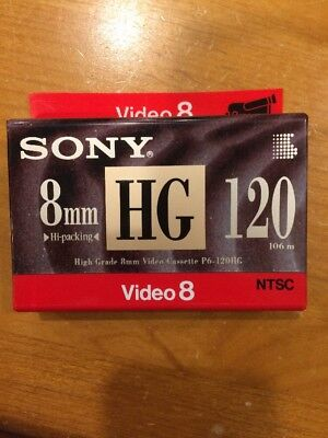 Sony 8mm High Grade Blank Video Tape 120 Min