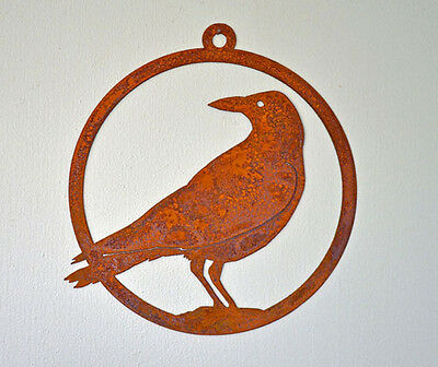 American Crow Cut Steel Ornament Made in USA Common Raven New
