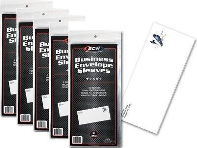 5 Pack of 500 Sleeves BCW Business Envelope #10 Sleeves  4 1/4 X 9 5/8 (#CS59)