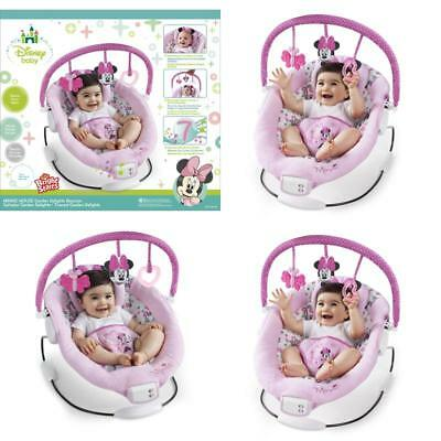 Disney Minnie Mouse Garden Bouncer 7 Melodies Vibration Baby Cradling Seat Toys