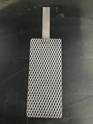 "Titanium Mesh for Anodizing or Plating. Durable .078"" thick with 3/4"" x 4"" tab"