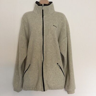 Barbour Polartec Cream Black Grey Fleece Jacket Size L Large