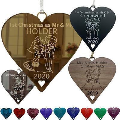 1st Christmas as Mr & Mrs Xmas First Decoration Gift Bride Groom Newlyweds Gifts