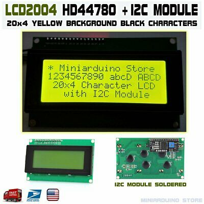 Yellow Serial IIC I2C TWI 2004 20x4 Character LCD Module Display Screen Arduino