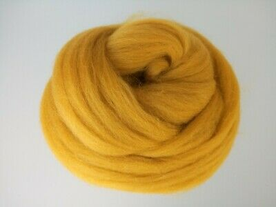 Curry Yellow* 100% Merino Wool Tops for Felting 50g