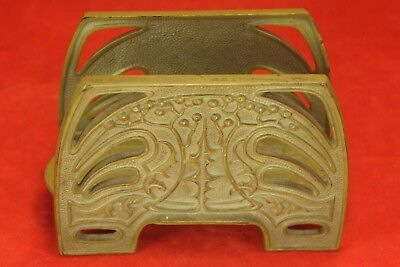 Vintage MISSION Cast Iron Letter Holder No 6637 - Gold Cream Paint or Finish